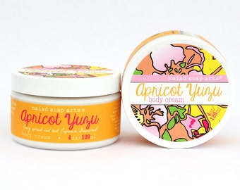 Apricot Yuzu Shea Butter Body Cream - anti-oxidant rich - Vegan and Cruelty Free - 95% natural
