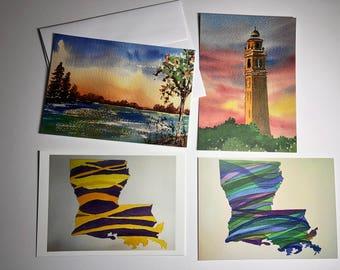 5x7 notecards Louisiana (set of 4)
