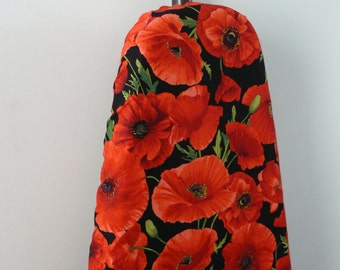Ironing Board Cover - big red poppies