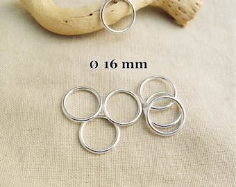 10 16 mm silver color A22209 closed rings