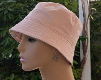 Cancer Hat Chemo Hat Bucket Hat Chemo Caps Shabby Chic Pink Made in the USA SMALL MEDIUM