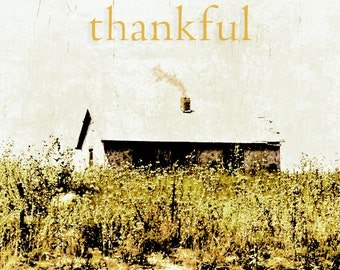 Landscape Photography, Autumn landscape, be thankful, Thanksgiving, rustic, primitive, gray, gold, amber, black, Fine Art