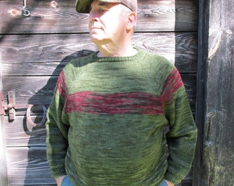 Hand Knit Merino Pullover Sweater