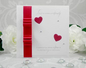 Romantic Card, Valentine's Day Card, Anniversary Card, Card for Wife, Card for Husband, Card for Boyfriend, Card for Girlfriend