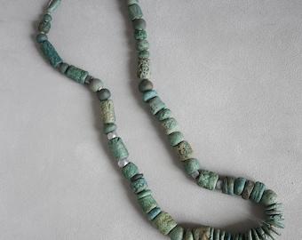 Vintage Artist Made Ceramic Beaded Necklace