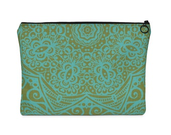 Mandala Two Sided Carry All Pouch  Flat