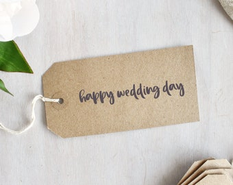 Happy Wedding Day Stamp | Sentiment Stamp - Wedding Stamp - Congratulations - On Your Wedding Day - Gift For Crafter