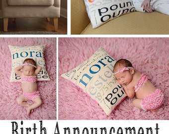 Gift Certificate - Personalized Birth Announcement Pillow