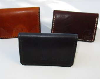 Business Card Holder, Leather Card Wallet. Gift