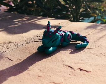Handmade polymer clay dragon