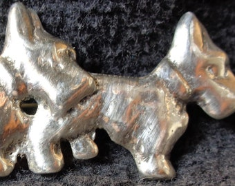 1950's Scotty/Scottie Dog Sterling Silver Pendant or Pin.