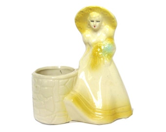 Planter Ceramic Yellow Southern Belle Rebecca at the Well