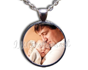 Photo Custom Personalized - Round Glass Dome Pendant or with Necklace or with Key Ring by IMCreations