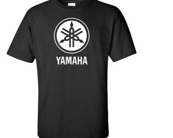 Yamaha biker motorcycle t shirt men boys