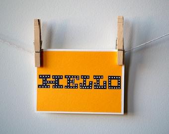 Hello (Erector Set) Notecard