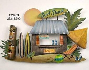 Surf Shack Metal Wall Art - CW433