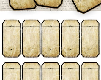 Printable Blank Apothecary Labels add text bottle apothecary jars labels digital download instant download Digital Collage Sheet - VD0304