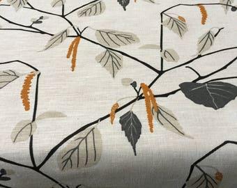 Linen Tablecloth Square Rectangle Birch Print