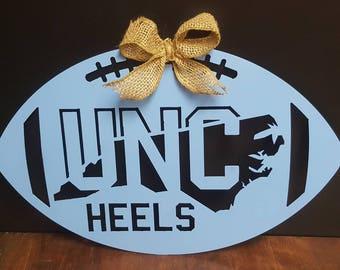 North Carolina TarHeels, University of North Carolina Tar Heels, Tar Heels football,North Carolina Tar Heels metal football, UNC football