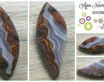 Agua Nueva Agate- 26x67mm  OOAK Substantial in Size