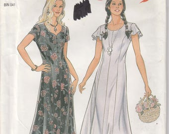 Dress Pattern Pullover Semi-Fitted Easy Misses Size 10 - 12 - 14 - 16 - 18 - 20 - 22 uncut New Look 6354