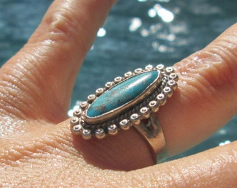 Bell Trading Post Turquoise Ring Size 5.75