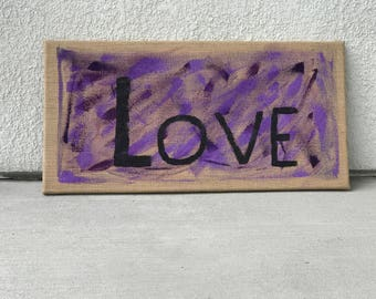 These Three Remain Abstract Love Painting