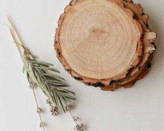 4 coasters, wood slices, wood coasters, reclaimed willow wood coasters, set of 4 coasters