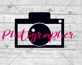 Photographer SVG Cut File