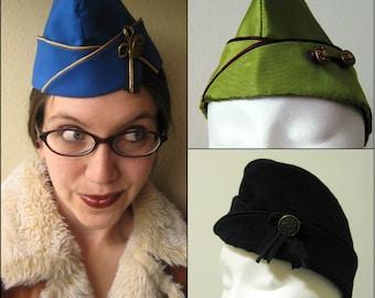 Custom Garrison Cap - Flight Hat - Aviator Costume - For Men Or Women - Made To Order