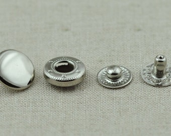 40 sets silver color snap button Snap Fastener