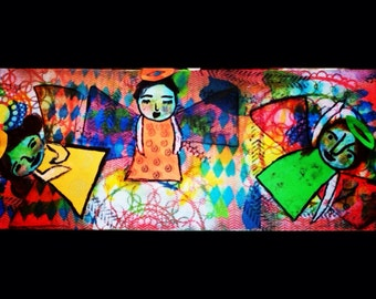 Mixed Media:  Angels are among us