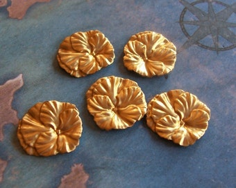 12 PC  Brass Small Pansy Flower -  P0343