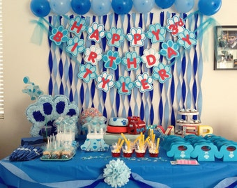 Blue's Clues Inspired Birthday Banner Personalized