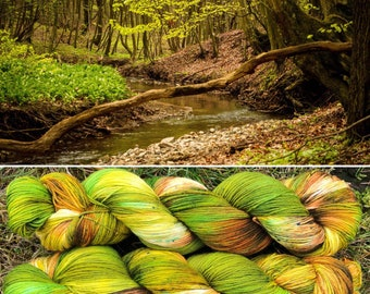 Spring is Here, indie dyed merino nylon sock yarn