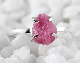 Uncut Ruby Ring Ruby Ring July Birthstone Ruby Engagement Ring Gemstone Ring Ruby Ring Engagement Ring Ruby Jewelry Raw Ruby Ring