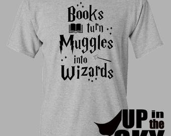 T-Shirt - « Livres transforment Moldus sorciers » | Harry Potter
