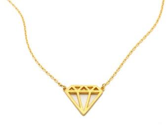 3D Gem Tiny Charm Necklace