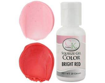 Bright Red CK Gel Paste Food Coloring - high quality food coloring for icing, frosting, cookie dough and more