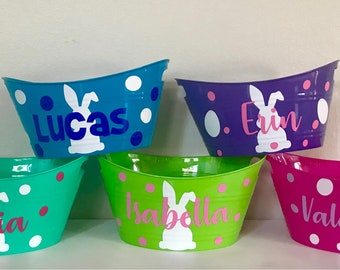 Personalized Easter Oval Buckets