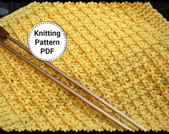 Knitting Pattern | Dishcloth Pattern | Knit Kitchen Accessory | All Squared Up, Dishcloth Pattern