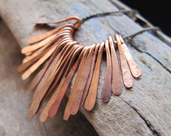 Hammered Paddles set / Copper Paddle Drop Charms for Necklace making / Handmade Pendant / Bars Dangles Pendant Necklase / Drop Bars Charms