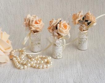 Bridesmaid gift, Flower girl gift, mini bottle keepsake, wedding keepsake, mother of the bride gift, mini rosebud bottle gift, gift for mom