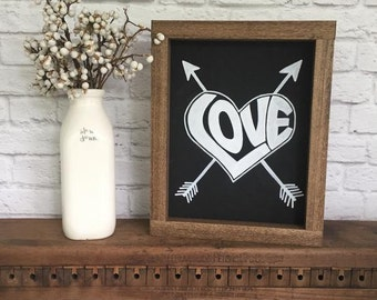 Love Hand Painted Wood Sign