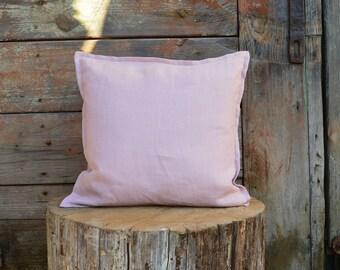 Linen pillow cover - blush linen pillow cover - linen cushion cover - natural linen pillow - decorative pillows