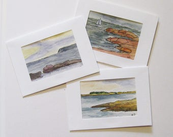 Original Art Note Cards 3 piece Gift Set ACEO/Mat/Notecard/Envelope Any ACEO in the Shop Artist Trading Card Gift Set Kathleen Daughan
