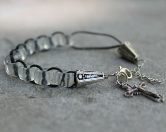 Clarity Catholic Christian Prayer Bracelet Movable Good Deed Beads