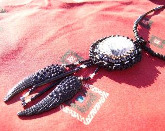 """Dendrite cabochon necklace, """"Dominion"""""""