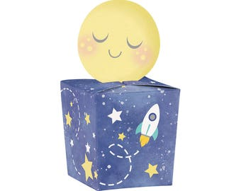 Moon Party Favor Boxes | I Love You to the Moon and Back Baby Shower Favor Rocket Baby Shower Space Birthday Twinkle Twinkle Little Star