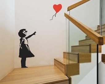 Banksy Balloon Girl Wall Stickers